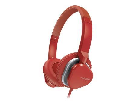 Creative Labs sluchátka MA2400 červená, s mikrofonem