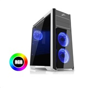 EVOLVEO Ray 4 RGB, case ATX, 3x RGB ventilátor