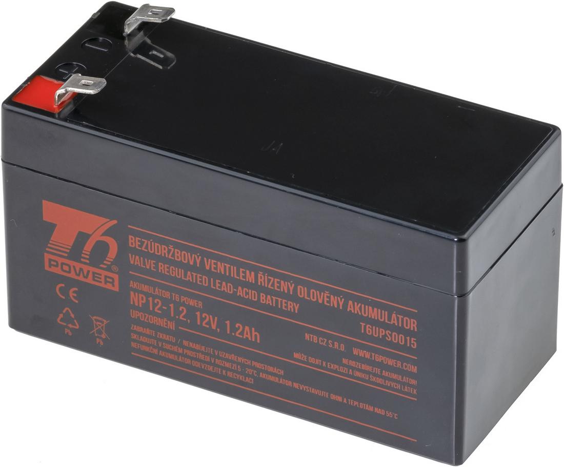 Akumulátor T6 Power NP12-1.2, 12V, 1,2Ah
