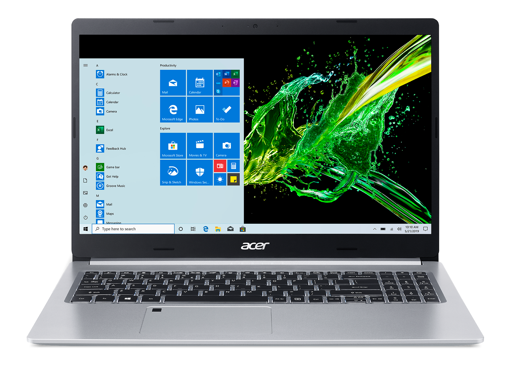 "ACER NTB Aspire 5 A515-55-78LL - 15.6"" FHD,i7-1065G7@1.30GHz,16GB,512GBSSD,UHD Graphics,W10H,Šedá"