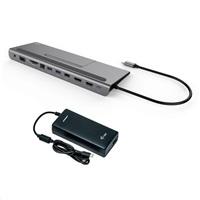 Bazar - iTec USB-C Metal Low Profile 4K Triple Display Docking Station + Power Delivery 85 W + charger, z opravy