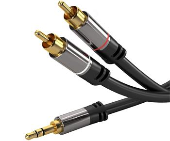 PREMIUMCORD kabel, Jack 3.5mm-2xCINCH M/M 5m