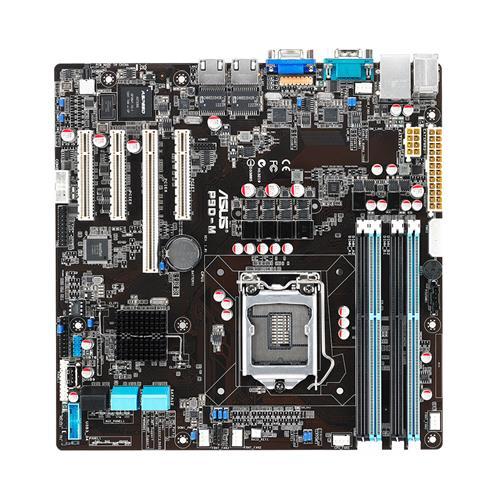 ASUS Server Board P9D-M, C224, for E3-12xx, max 32GBub, SATA3, RAID,PCI-E, U ATX