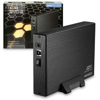 """AXAGO - EE35-XA3 USB3.0 - SATA 3.5"""" externí ALINE box POŠKOZENÝ OBAL"""