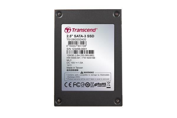 "Transcend SSD420, 128GB, SSD disk2.5"" SATA3, MLC, Ind."