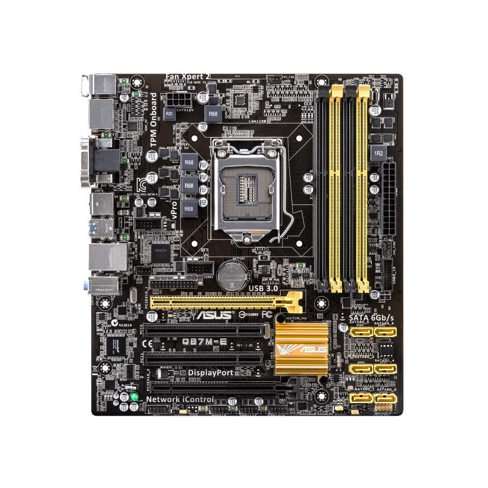 ASUS Q87M-E, Q87, DualDDR3-1600, SATA 3, RAID, HDMI, DVI, D-Sub, DP, mATX