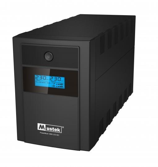 PowerMust 1260 LCD (1200VA), Line Int., IEC