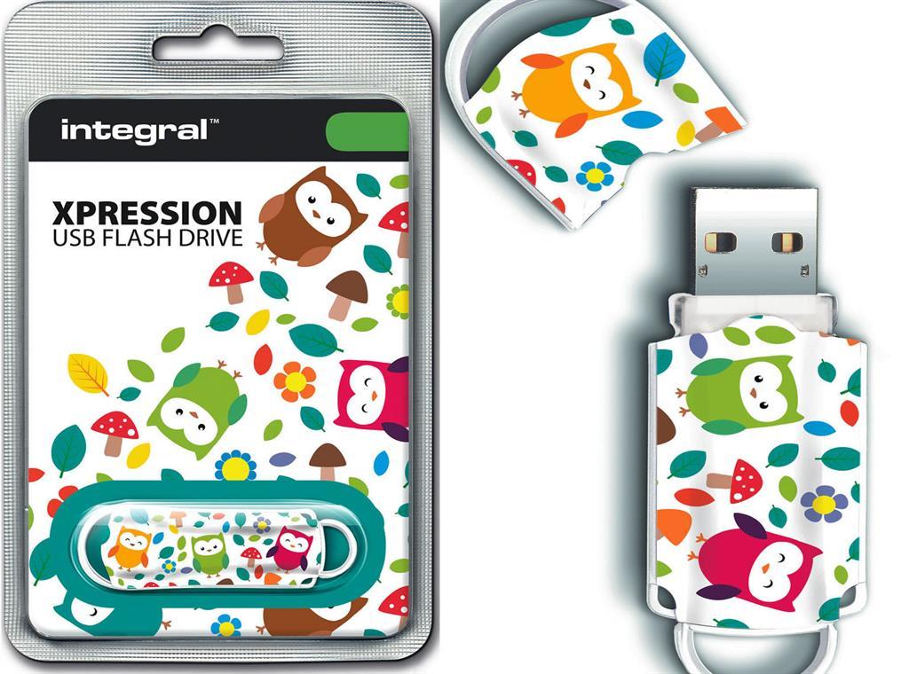 Integral USB Flash Drive Xpression 16GB USB 2.0 - Birds