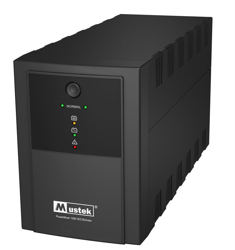 Mustek UPS PowerMust 1260 (1200VA) IEC/Schuko