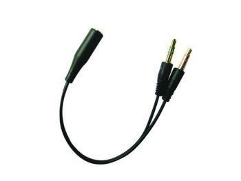 Sandberg konvertor pro sluchátka z mobilu do PC, černý