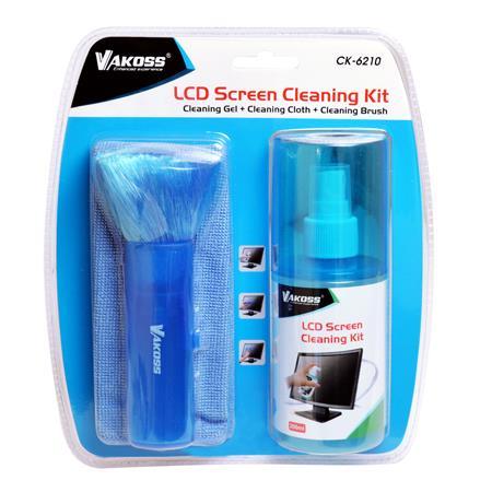 VAKOSS Čistící sada na LCD / 200 ml tekutiny / štěteček / utěrka