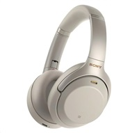 SONY Bluetooth stereo sluchátka WH1000XM3, stříbrná