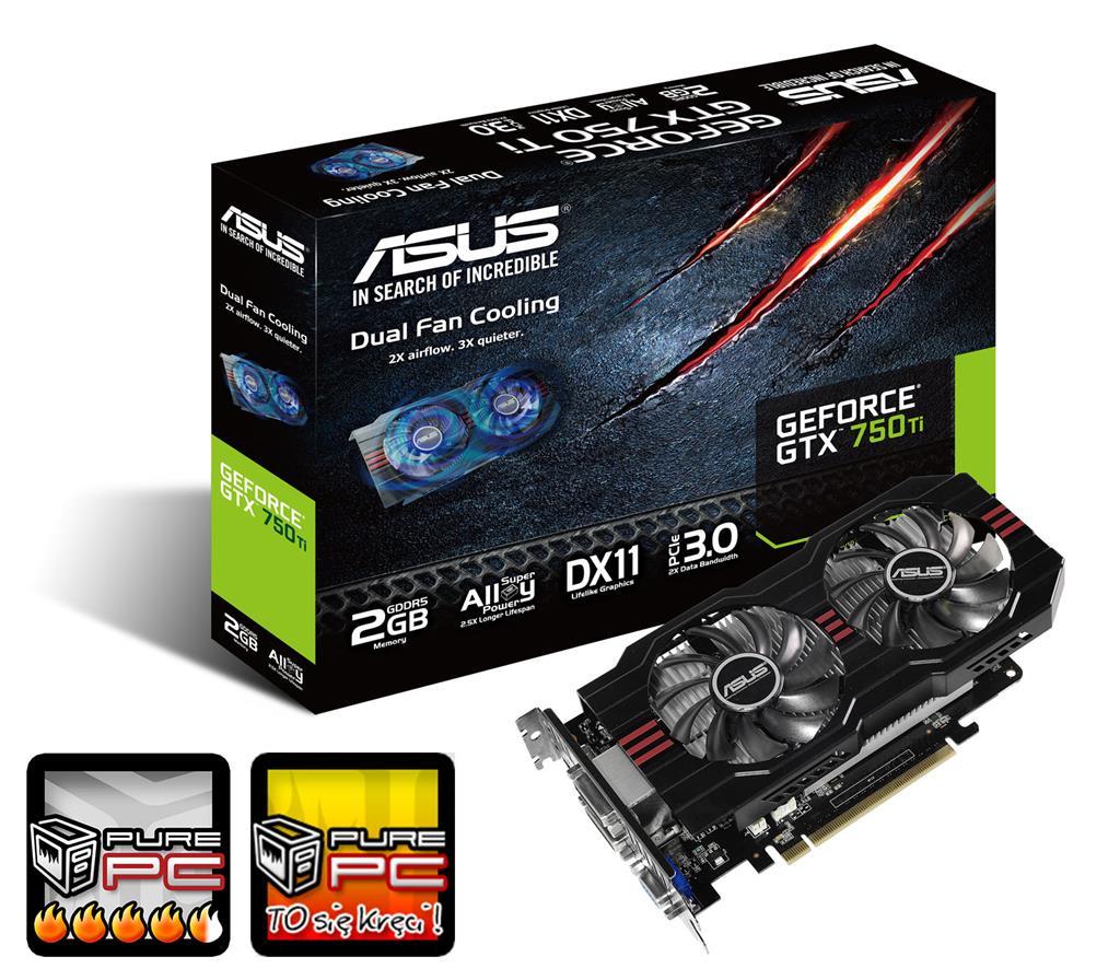 ASUS GeForce GTX 750 Ti OC, 2GB GDDR5 (128 Bit), HDMI, 2xDVI