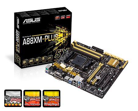 ASUS A88XM-PLUS, A88X Bolton D4, DualDDR3-2133, 8xSATA3, HDMI, DVI, RAID, mATX