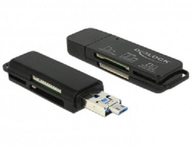 Delock USB OTG čtečka karet USB 3.0 A + Micro-B kombo