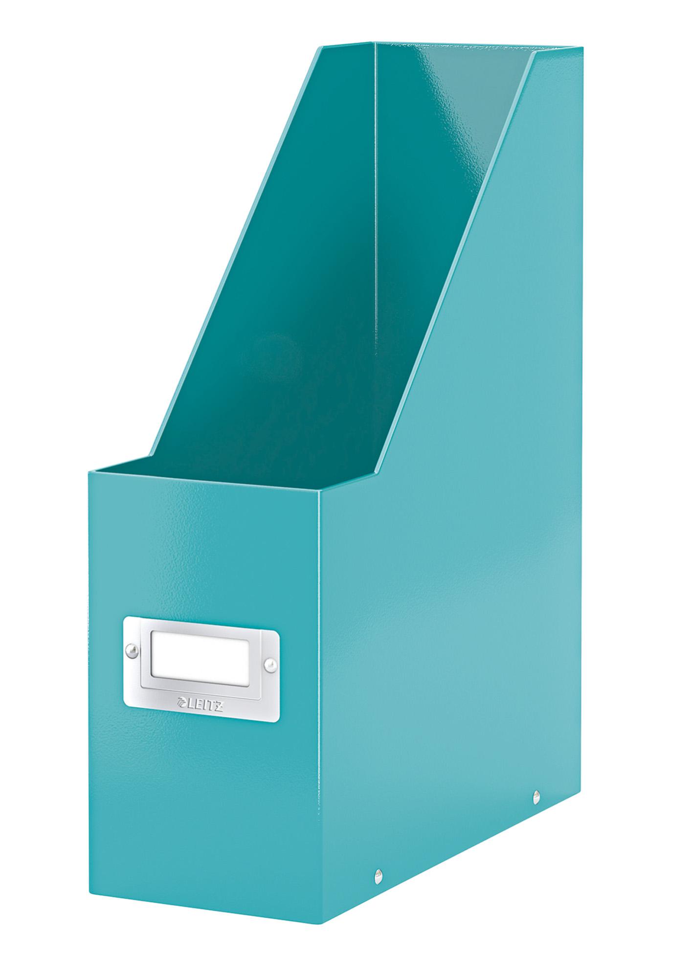 Stojan na časopisy Leitz Click&Store, ledově modrá