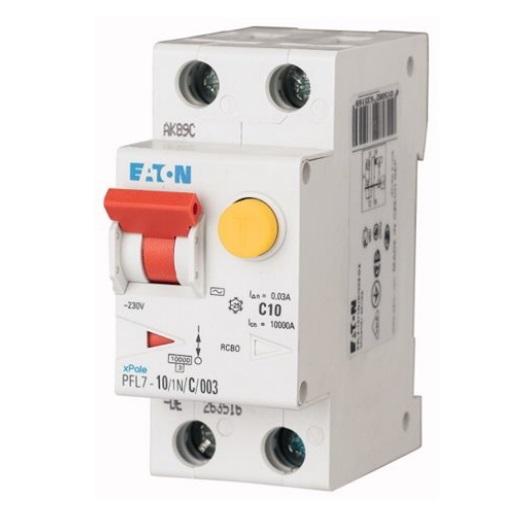 Chránič s jističem Eaton 2P 10A B 10kA