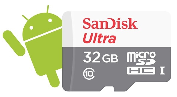 SanDisk microSDHC 32GB Ultra Android (48 MB/s Class 10 UHS-I)