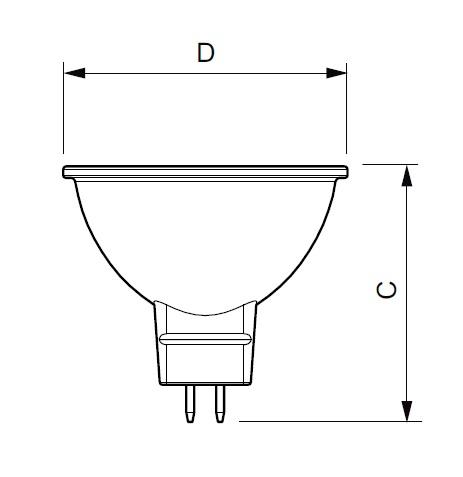 LED žárovka Philips, MR16, 5W, 4000K, úhel 36°