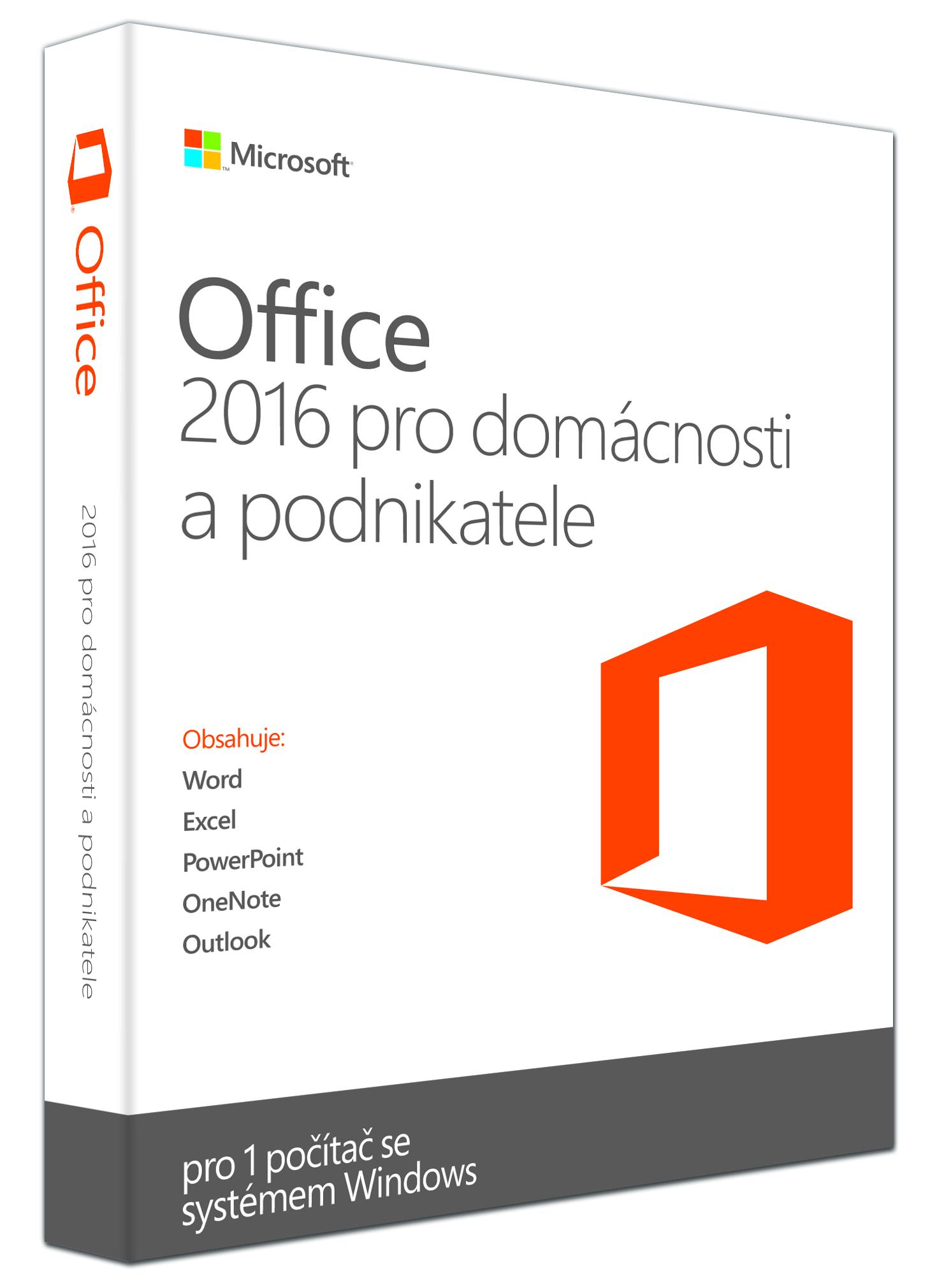 Office 2016 pro domácnosti a podnikatele CZ