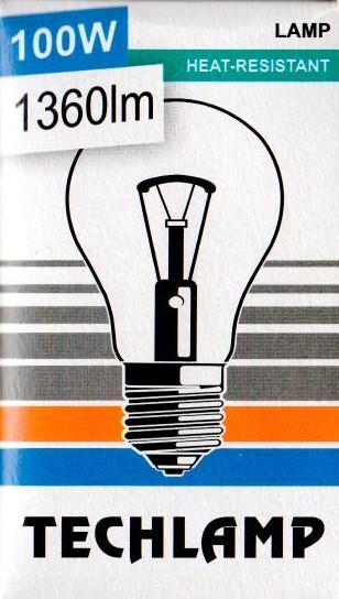 Žárovka TECHLAMP 100W E27 240V A55