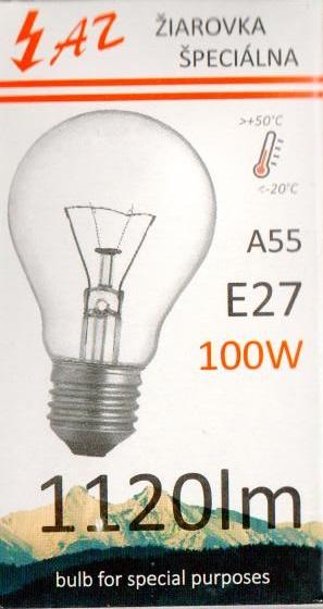 Žárovka AZ 100W E27 240V A55