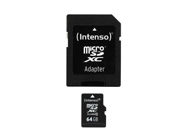 Intenso micro SD 64GB SDXC card class 10