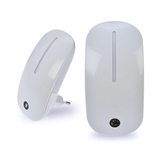 Noční LED svítidlo SOLIGHT se soumrakovým senzorem, 1W, plug-in, bílé WL901