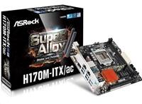 ASRock H170M-ITX/AC, H170, DualDDR4-2133, SATA3, mSATA, RAID, HDMI, DVI, mITX