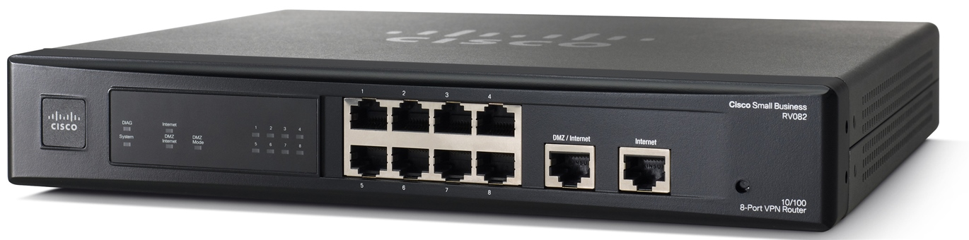 Cisco 10/100 VPN 8-Port Router RV082