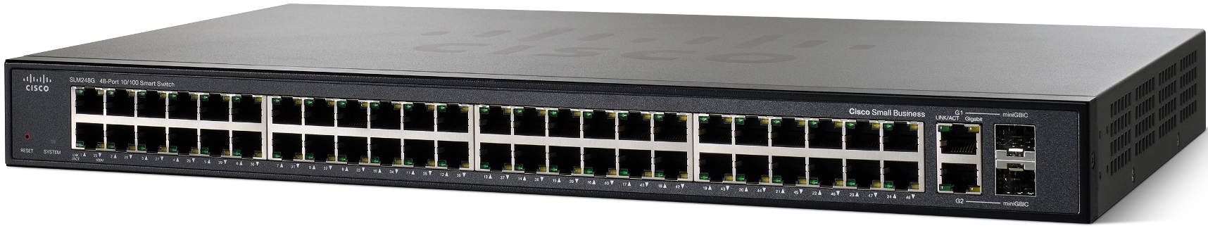 Cisco SF200-48, 48x10/100, Smart, SLM248GT-EU