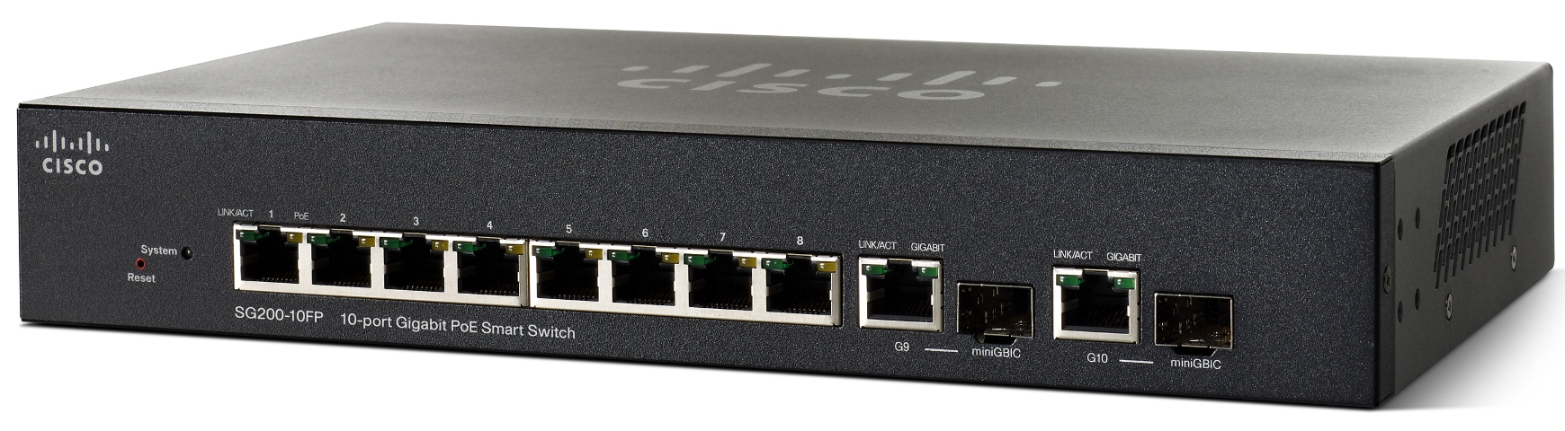 Cisco SG200-10FP, 10xGbit PoE Smart, SG200-10FP-EU