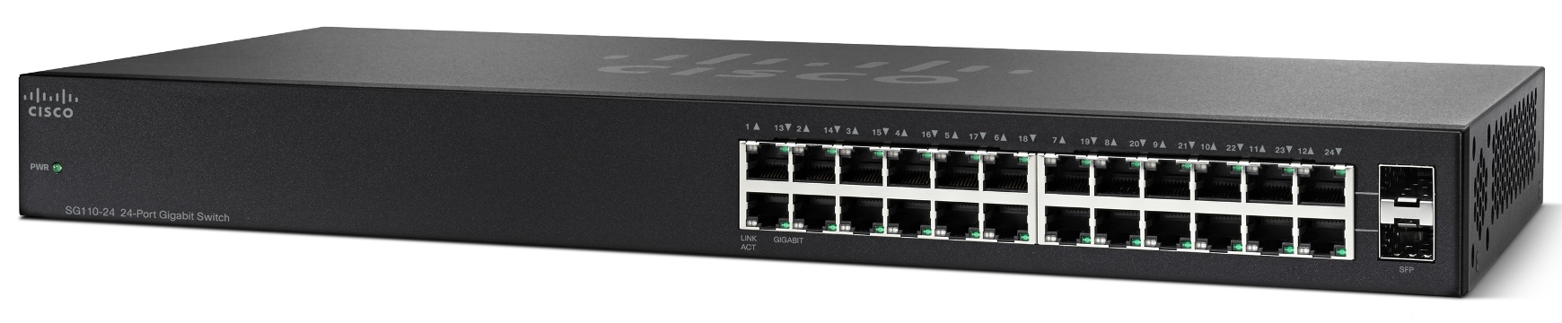 Cisco SG110-24, 24-port Gigabit switch