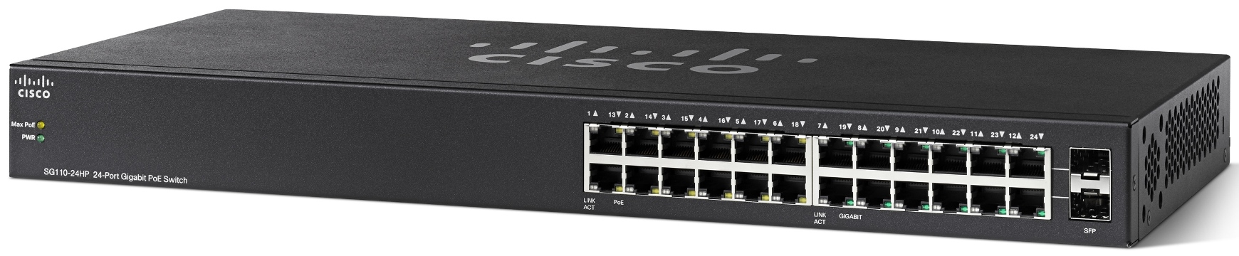 Cisco SG110-24HP 24-Port PoE Gigabit Switch