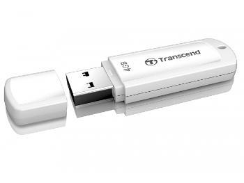 Transcend JetFlash 370 flashdisk USB 2.0 4GB, JetFlash Elite SW, bílý