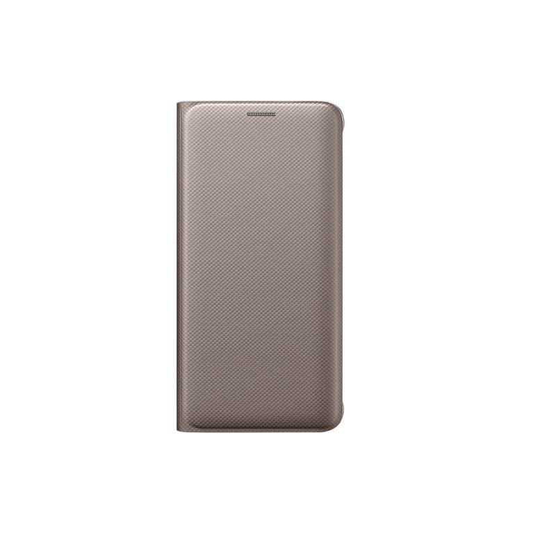 Samsung Flipové pouzdro s kapsou S6 Edge+ Gold