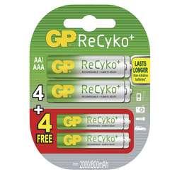 GP PROMOPACK RECYKO 4 x 2000mAh + 4 x 800mAh
