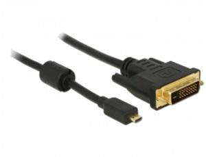 Delock HDMI kabel Micro-D samec > DVI 24+1 samec 2 m
