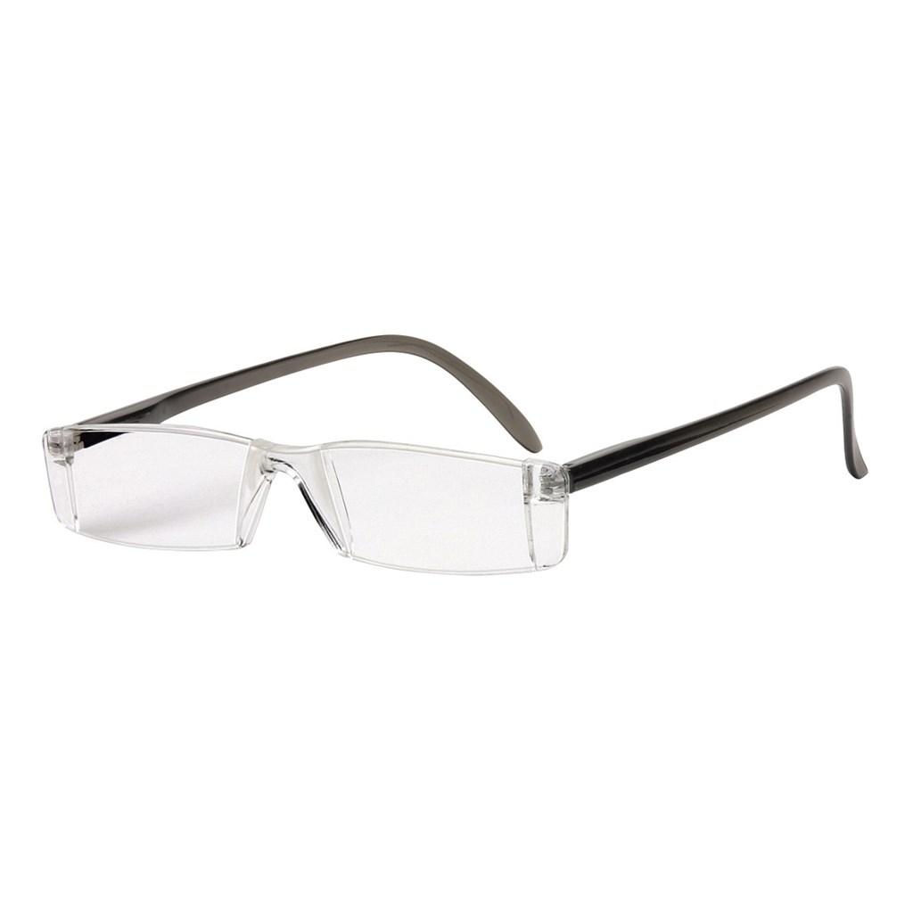 Filtral čtecí brýle, plastové, šedé, +3.0 dpt