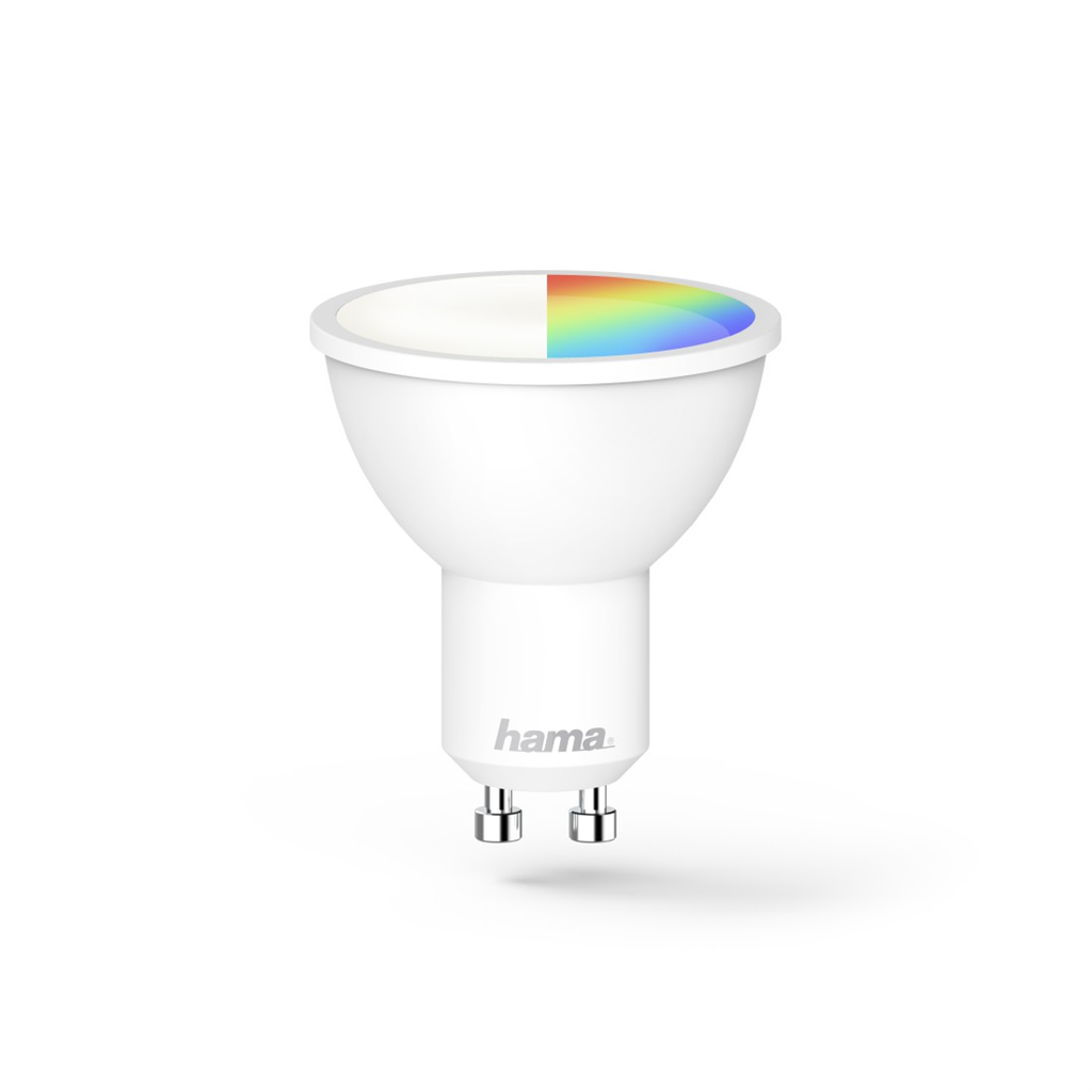Hama SMART WiFi LED žárovka, GU10, 5,5 W, RGBW, stmívatelná