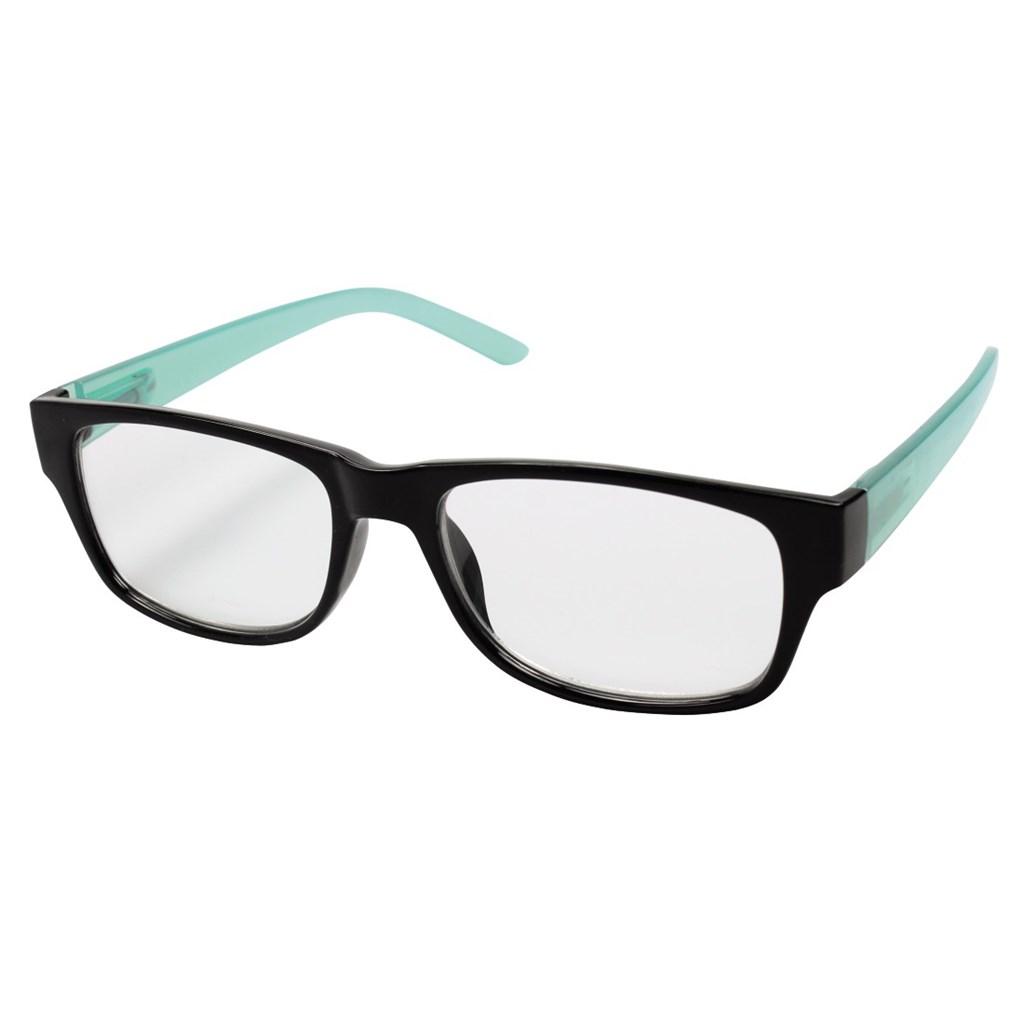 Filtral čtecí brýle, plastové, černé/tyrkysové, +2.0 dpt