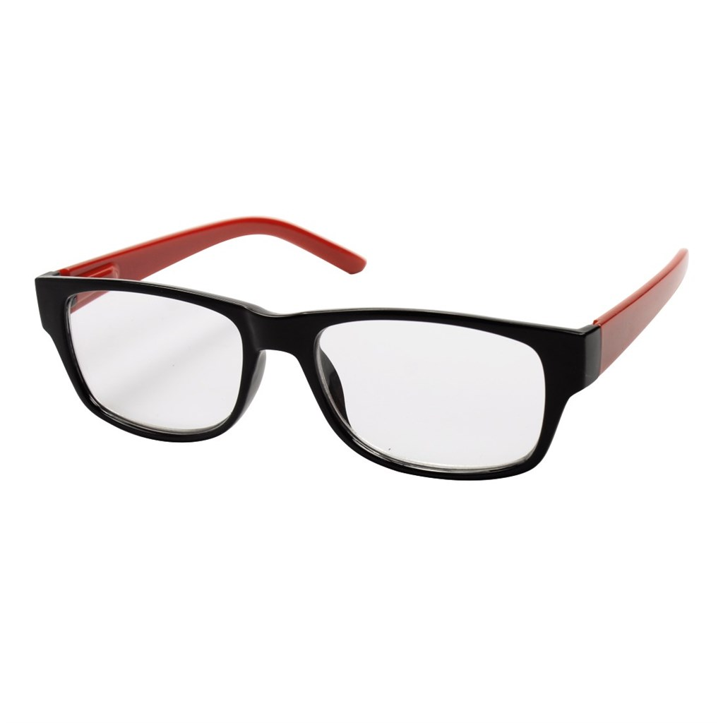 Filtral čtecí brýle, plastové, černé/červené, +1.5 dpt
