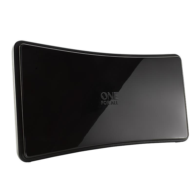 Pokojová anténa SV9420, zesilovač 42dB, filtry 3G-GSM, 4G-LTE, UHF/VHF, DVB-T/T2/DAB, vhodné pro zakřivené TV
