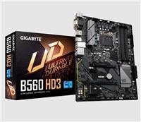 GIGABYTE MB Sc LGA1200 B560 HD3, Intel B560, 4xDDR4, 1xDP, 1xHDMI, 1xDVI, 1xVGA