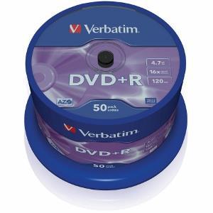 Verbatim DVD+R [ cakebox 50 | 4.7GB | 16x | matte silver ]