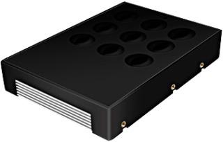Icy Box konvertor 3.5'' pro 2.5'' SATA HDD, černý + alu