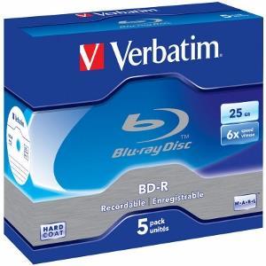 Verbatim Blu-ray BD-R [ jewel case 5 | 25GB | 6x | Scratchguard Plus ]