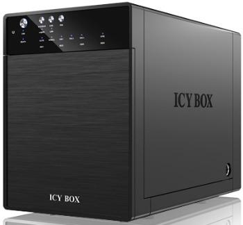 Icy Box externí box pro 4xHDD 3.5'', SATA do USB 3.0, eSATA, JBOD, černý