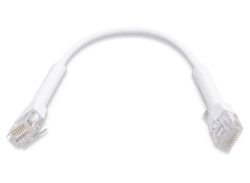 UBNT UniFi Ethernet Patch Kabel - délka 0,22m, Cat6, bílý