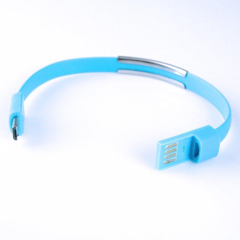 GT kabel USB/micro USB, náramek, modrý